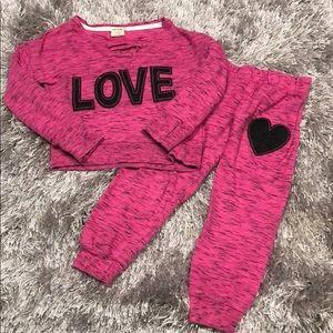 Toddler Girls SweatSuit